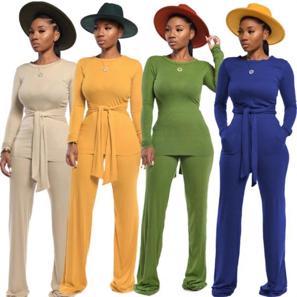 Vêtements pour femmes manches longues tenues Ensemble 2 pièces survêtement de jogging chute collants sweat-shirt de costume de sport costume de sport klw2676