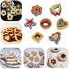 free shipping 5PCS/Set Plastic Cookie Biscuit Cutters People Heart Flower Shape Cake Cutters Mold Cookie Plum Moulds Baking Decoration Tool