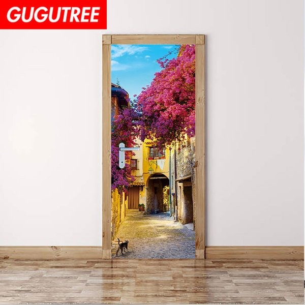 Decorate Home 3D scenery wall door sticker decoration Decals mural painting Removable Decor Wallpaper G-801