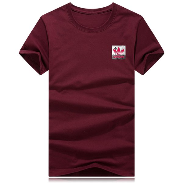 2019Hot Summer Brand Top Мужская футболка с короткими рукавами черный Белый пятиконечная звезда футболка Мужчины Дизайнерская футболка Футболка с круглым вырезом моды Футболка