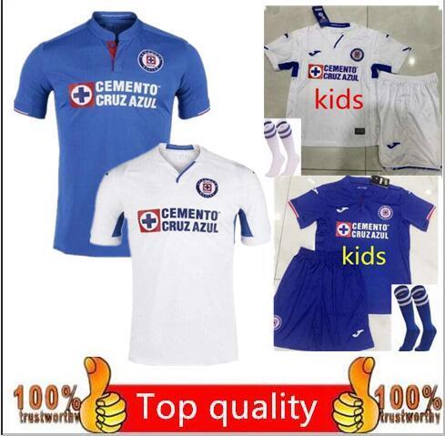 Thailand Quality 2019 2020 Mexico Club Cruz Azul Soccer Jerseys 19/20 kids CARAGLIO MONTOYA MENDEZ football Shirts camisetas de futboll shor