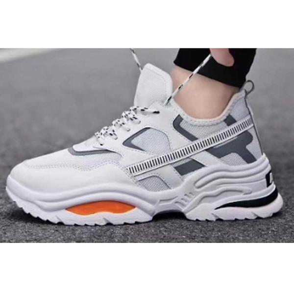 Desenhador de moda Homem Sapatilha Sapatos Casuais de Malha de Couro Genuíno dedo apontado Corrida Corredor Sapatos Ao Ar Livre Sapatos Formadores Com Caixa