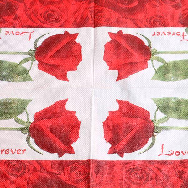 Acheter Serviettes En Papier Serviettes Découpage Décoration Fête Fête Fournitures Pack Bloosm Rose Floral Fleur Thème Papier De 3422 Du Huweilan