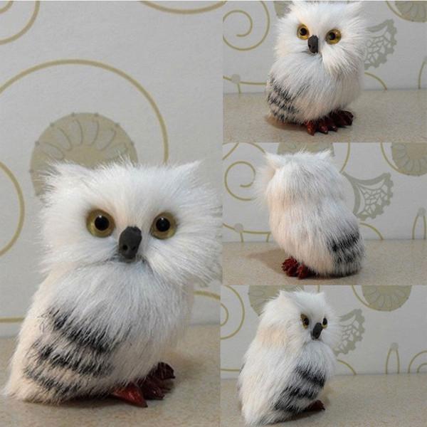 Ornamenti realistica Hedwig Owl Doll Toy Simulation Model peluche regalo di festival Home Decor goccia