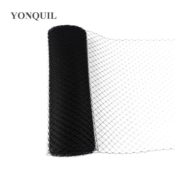 "10""/25 cm Black birdcage veils for fascinators DIY hair accessories Millinery hats party headwear nettings wedding hat velling"