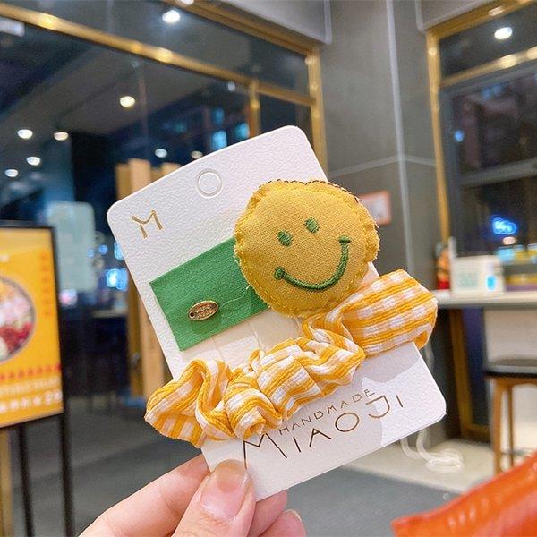 Visage souriant jaune (avec carte)