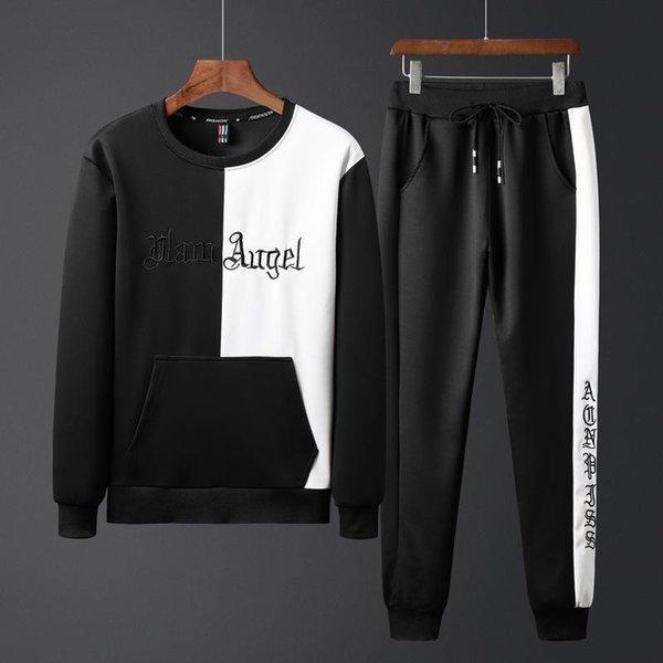 sudadera de diseñador para hombre nuevo conjunto de 2 piezas de manga larga para hombre delgado otoño juvenil estudiante casual suéter deportivo trajes para correr chándal de diseñador