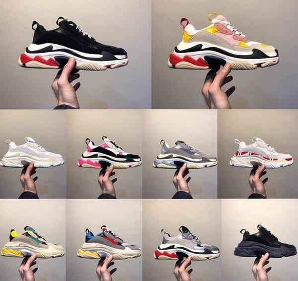 Nouveau dévoile la qualité de loisirs SaleBrand Hot casual shFor Triple s Hommes Femmes Low Cut Casual Chaussures Sneakers Unisexe Zapatillas formateurs