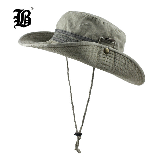 e2d8b43e9 [FLB] Sun Hat Washed Bucket Flap Hat Breathable Boonie Multicam Nepalese Boonie  Hats Outdoor