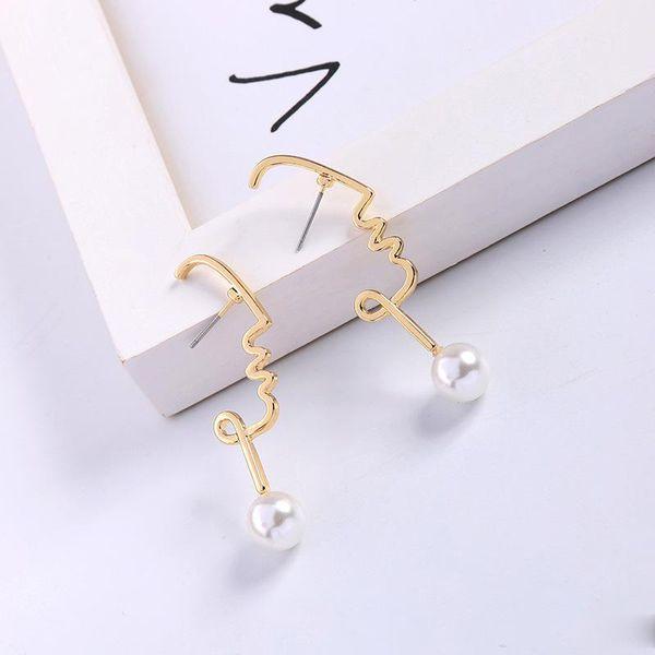 Nuova moda placcatura in oro creativo perla irregolare orecchini per le donne fidanzata Lovey lega orecchino di Natale regalo accessori gioielli