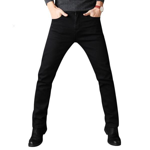 Homens esticar todas as cores pretas calças de marca de roupas 2018 nova moda casual denim calças masculinas qualidade t190913