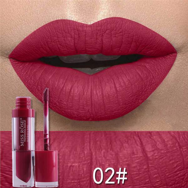 Miss Rose 24 Colors Sexy Matte Metal Lipstick Waterproof Cosmetic Long Lasting Moisturizing Easy To Wear Makeup Lip Sticks Gloss Lipsticks