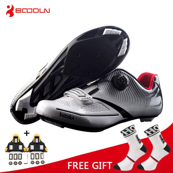 Boodun Nefes Pro Kendinden Kilitleme Bisiklet Ayakkabı Yol Bisikleti Bisiklet Ayakkabı Ultralight Atletik Yarış Sneakers Zapatos Ciclismo