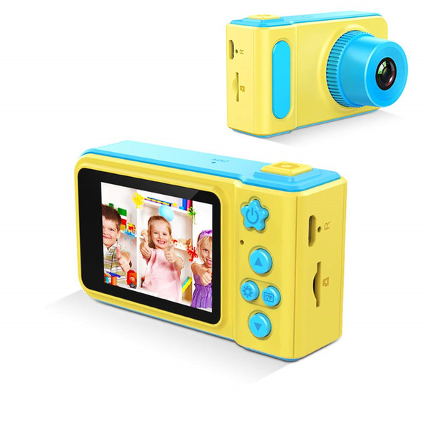 Portable Compact Cartoon Design Rechargeable Puzzle Games DIY Video Effects Kids Camera Digital Zoom Camera with Flash Mic for Girls/Boys
