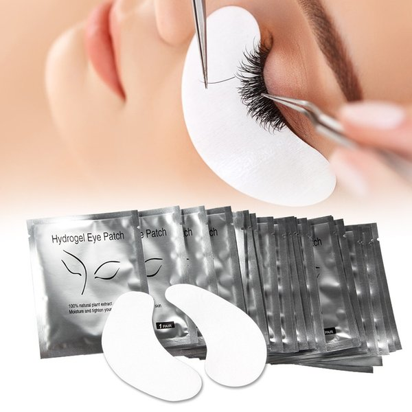 50 Pairs/lot Pillows for Eyelashes Extension Disposable Eye Paper Patches Lint-free Eye Lashes Tips Sticker Wraps Makeup Tool