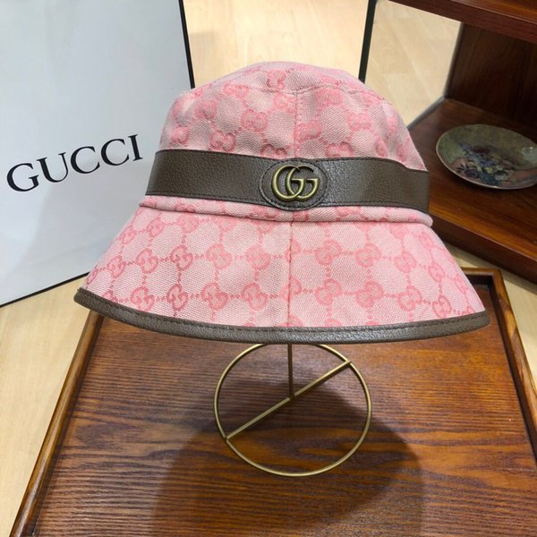 Brand designer leather alphabet bucket hats for men and women foldable hats letter fisherman beach sunshades hats folded mens womens