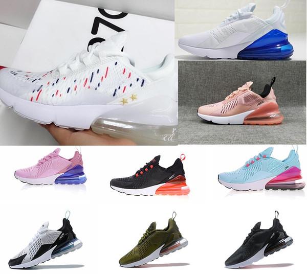 Großhandel Heiße Nike Air Max Airmax 270 27C Teal Outdoor Schuhe 2 Sterne Frankreich Herren Herren Flair Triple Schwarz Weiß Blau Trainerschuh
