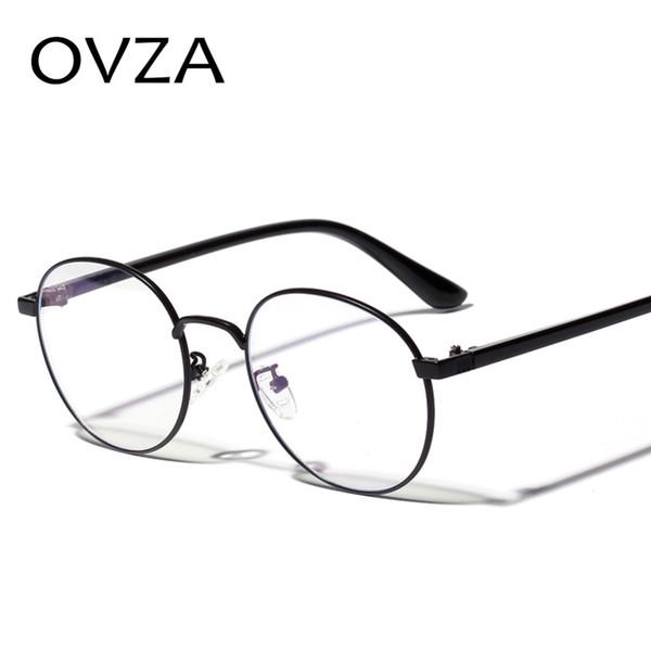 OVZA круглые металлические очки рамки для женщин мужская мода очки кадр прозрачные линзы очки круг S6085