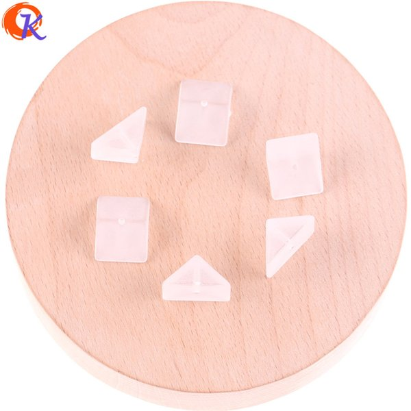wholesale 200Pcs 8*16MM Clear Matte Acrylic Beads/Triangle Sahpe/Earring Bead/Fashion Jewelry Suppliers/Jewelry Accessories