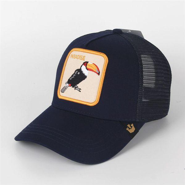 Moda caliente Sombreros de Béisbol Bordado Aves Animales Gorras de Verano de Lujo Gorra de Malla Al Aire Libre Sombrero de Sol Para Hombre Tapas de Pelota de Golf Mujeres Amante Visera regalo