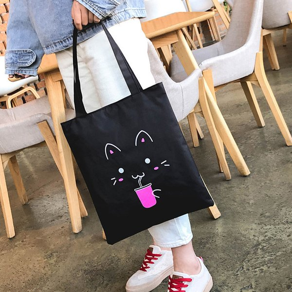 Cheap Fashion Girls Women Fasion Printing Bag Simple Animal Canvas Bag Shoulder Bag Handbag Popular JUNE7