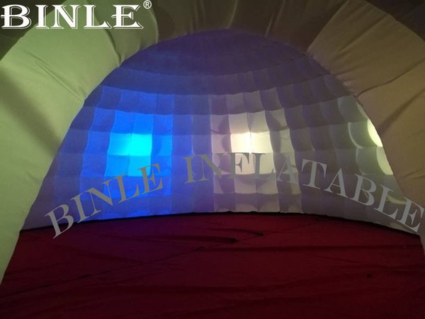 Outdoor white inflatable dome tent with 1 tunnel waterproof inflatable igloo inflatable marquee for party