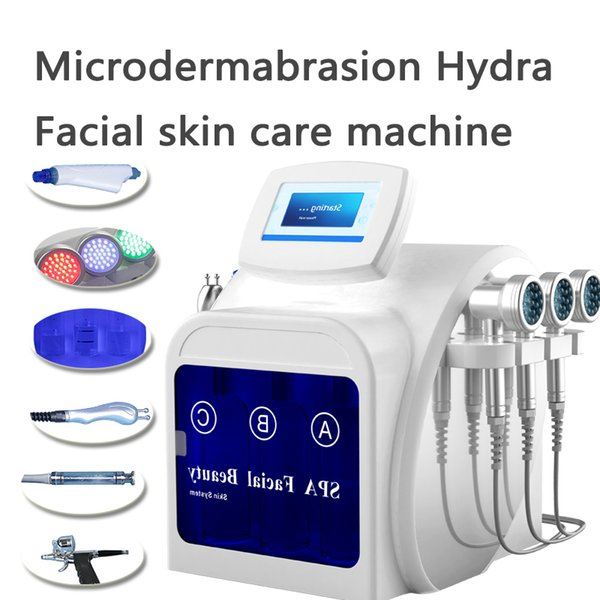 Hot Selling 7 IN 1 Hyperpigmentation Water Dermabrasion Oxygen Hydrafacial  Treatment Bio Lifting Face Machine 2 Years Warranty Microdermabrasion For