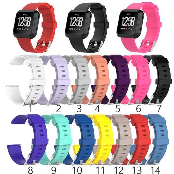 Мягкий Силиконовый Замена Спортивный Браслет Ремешок Для Часов Ремешок для Fitbit Versa Lite Браслет Наручные Часы Ремешок Красочные S L Размер