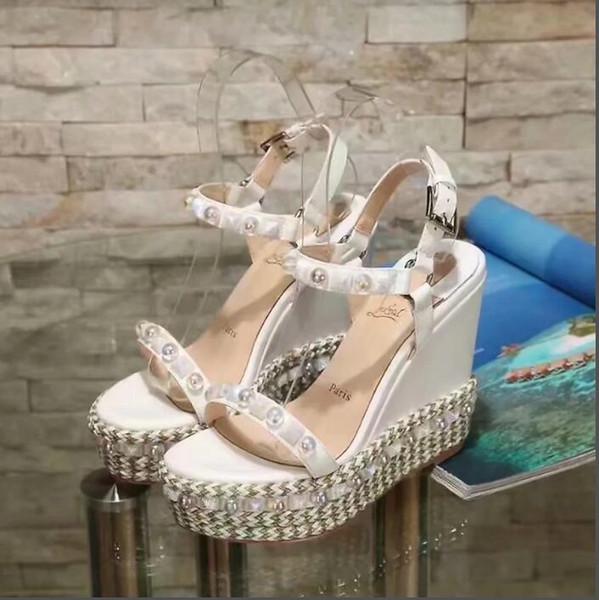 2018 Rome Style Recortes Mujeres Slingback Bombas Punta abierta Correa del tobillo Zapatos de tacón alto Zapatos con cordones Tacones de aguja Sandalias para mujeres34-41-No box