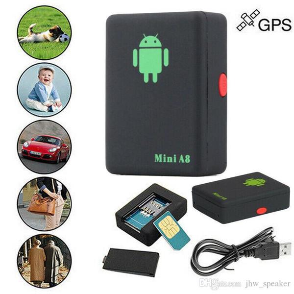 A8 Mini GSM / GPRS Tracker Dispositivo de seguimiento global en tiempo real GSM GPRS con botón SOS para autos Niños Elder Pets SOS