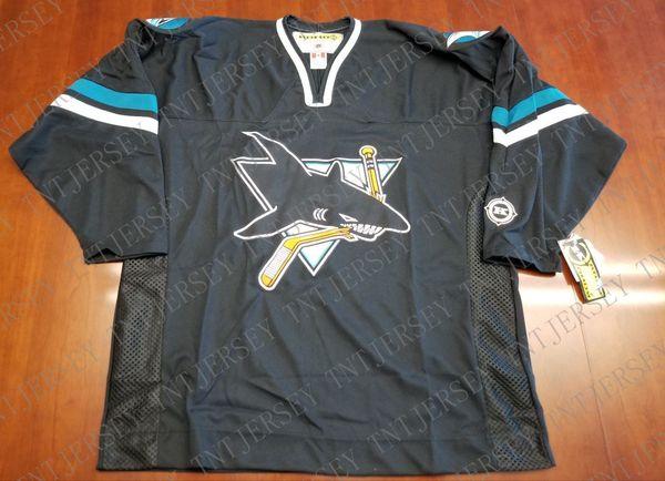 Cheap custom San Jose Sharks Vintage Koho Third Jersey Black Stitched Retro Hockey Jersey Customize any name number XS-5XL