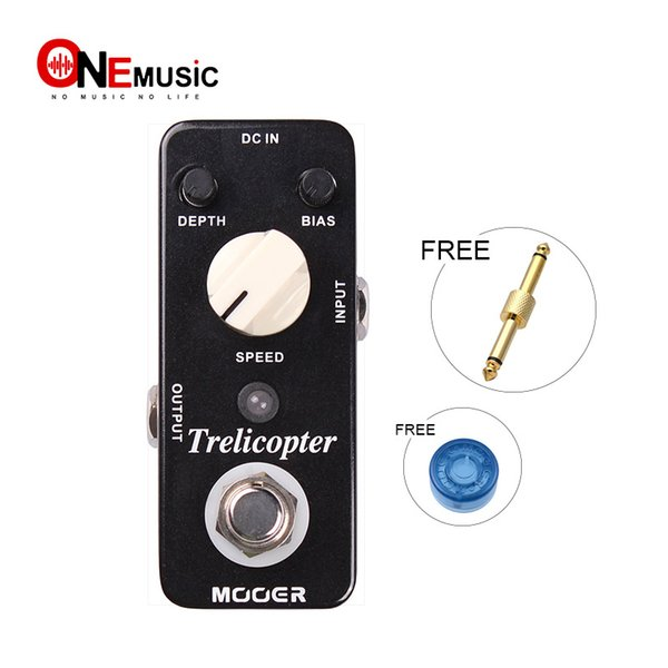 Mooer Trelicopter Optical Tremolo Pedal Classic optical tremolo with huge range of speeds and depths Full metal shell True bypass MU0339
