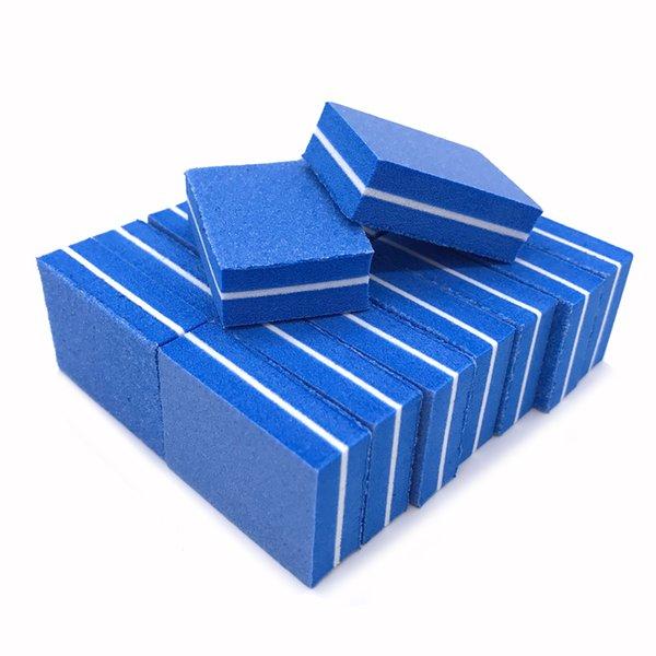 100/180 Nail Files 50pcs Blue Sandpaper Nail Art Sanding Buffer Block Mini Sponge File Manicure Pedicure Tools lime a ongle