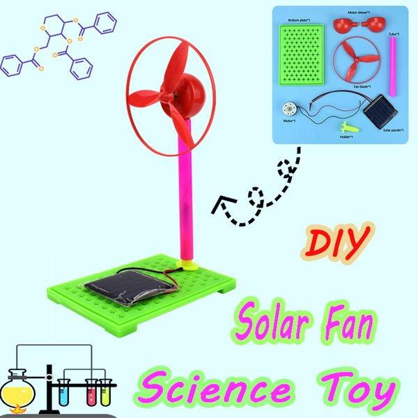 top popular Plastic Solar Fan Handmade Assembly Model Kits Physics Circuit Experiment Educational Toys Gifts for Kids Teens Brain Development 2021