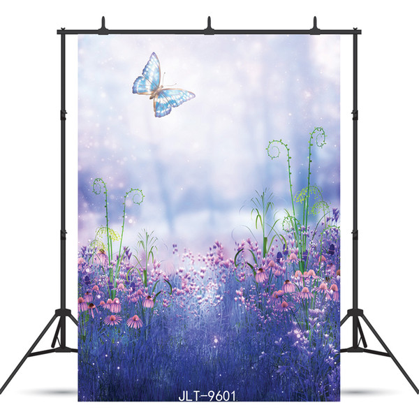 2019 Vinyl Portrait Photography Background Butterfly Flowers Forest For Party Birthday Baby Shower New Born Backdrop Photocall Booth Shoot Studio From