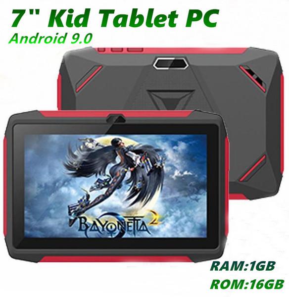 "top popular Kids Brand Tablet PC 7"" 7 inch Q98 Quad Core A33 1024*600 HD screen Android 9.0 AllWinner A50 Real 1GB + 16GB with Bluetooth PK Q8 MQ10 2020"