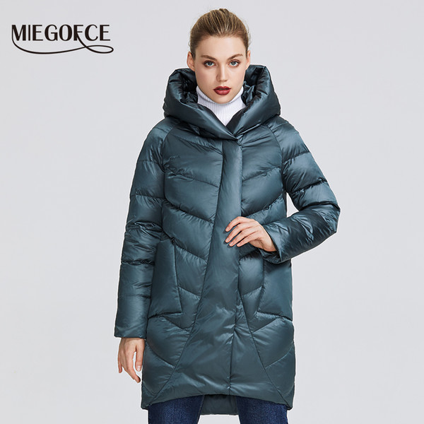 Miegofce 2019 Winter Jacket Women's Collection Warm Jacket With Unusual Design And Colors Winter Coats Gives Charm And EleganceMX190822