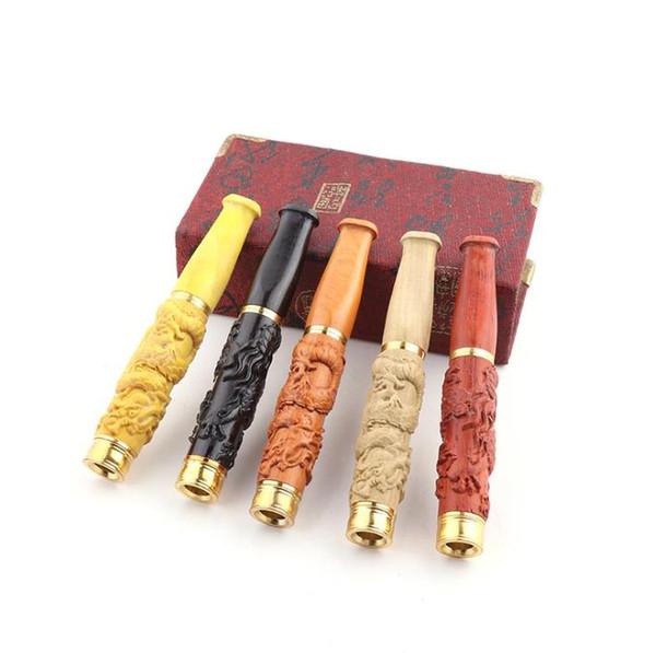 Porte-cigarette à double filtre sculpté dans un filtre à tige de dragon sculpté