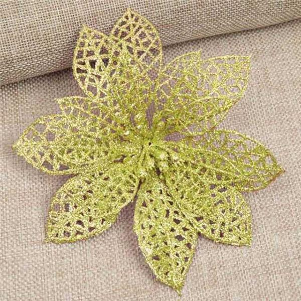 10pcs Simulation Artificial Floral Flowers Plastic Decoration For Christmas Tree Party TN99