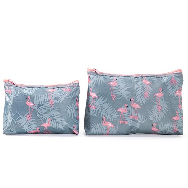 Ladies Cosmetic Bag Fashion Flamingo Cosmetics Makeupup Bag Large Capacity Travel Organizer Beautician Vanity Free Shipping