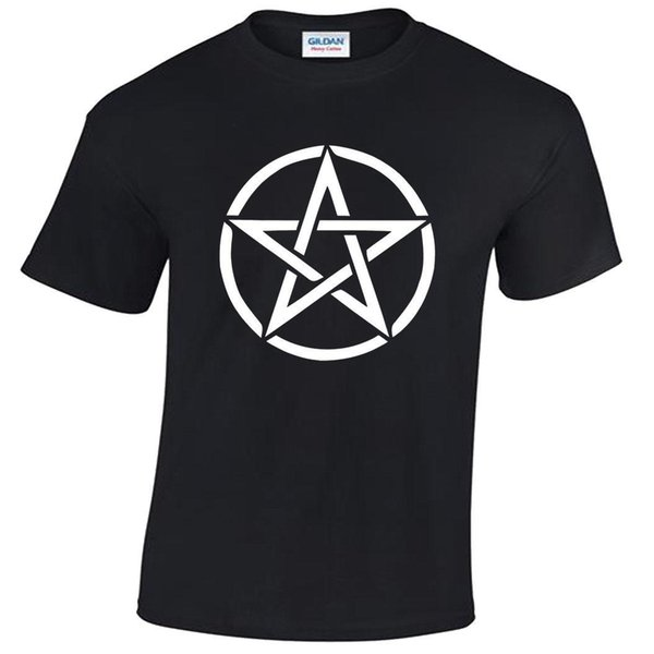 Pentagram T-Shirt Mens S-5XL goth rock punk metal gothic biker satanic white New Brand-Clothing T Shirts Printed Men T Shirt Clothes
