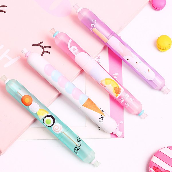 10X Creative Sausage Design Juice Ice Cream Sushi Gel Pen Rollerball Pen Student Stationery School Office Supply 0.5mm Black Ink