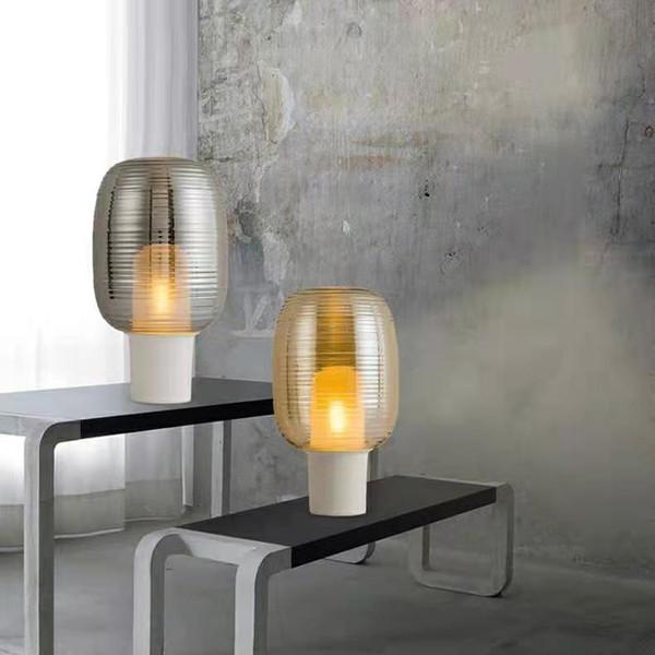 2019 Modern Glass Table Lamp Metal Bedroom Table Light Fixtures Living Room  Desk Lamp Glass Desk Lamps Art Home Decor Lighting From Delin, $152.77 | ...