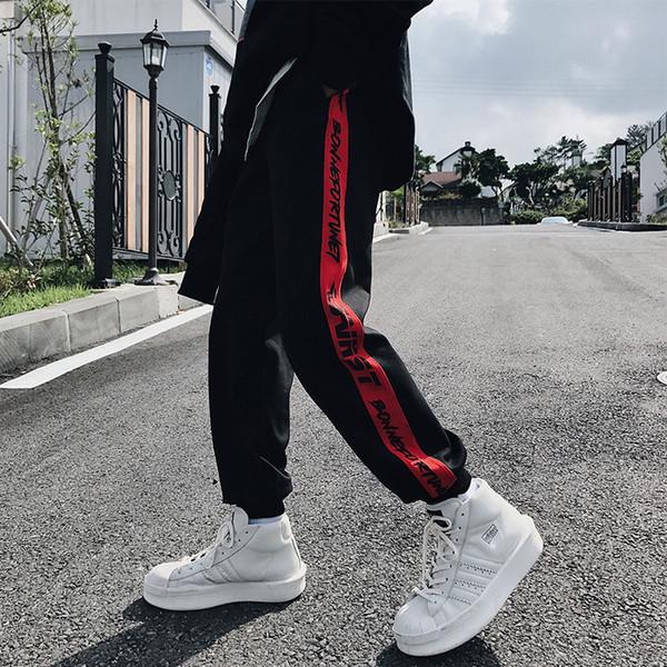 Hip Hop Pantolon ErkekSpring Pantolon Bize Beden S-XL