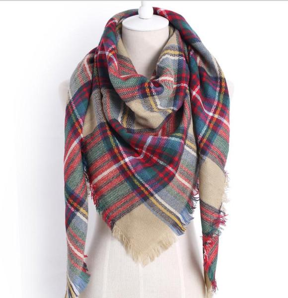 Designer 2019 knitted spring winter women scarf plaid warm cashmere scarves shawls fashion neck bandana pashmina lady wrap