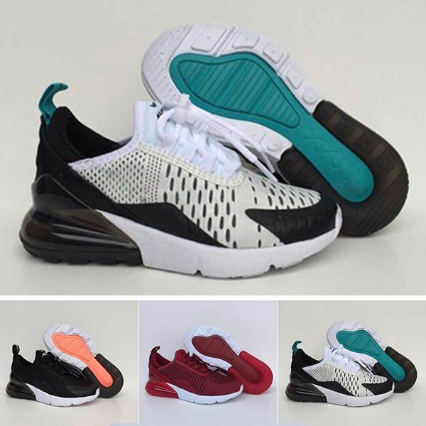 Acheter Nike Air Max Infant 270 Enfants Chaussures De Course Noir Blanc Dusty Cactus 27c En Plein Air En Bas Âge Athlétique Garçon Fille Enfants