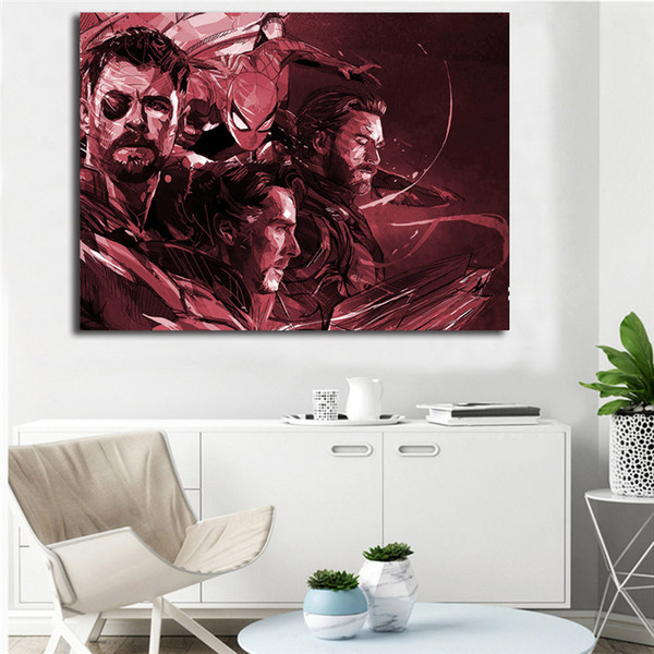Marvel Avengers By Yann Dalon Wall Art Canvas Poster And Print Canvas Painting Decorative Picture For Bedroom Home Decor Artwork