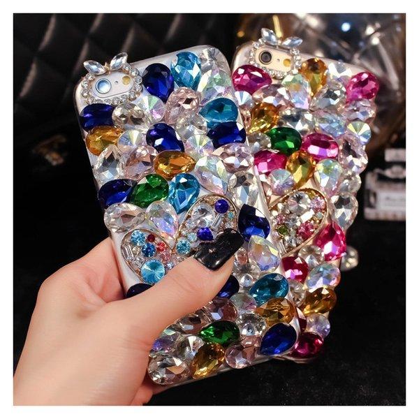 Luxury Bling Diamond Phone Case Glitter Rhinestone Crystal Cover for Samsung Galaxy Grand Prime G530 G530H G531 G531H SM-G531H