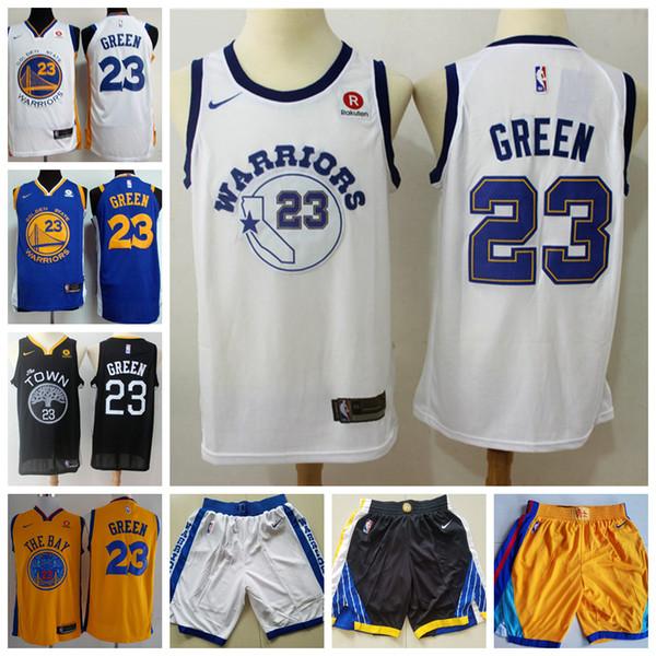 size 40 c59b4 43fcb 2018 2019 New Mens Golden State Warriors 23 Draymond Green Basketball  Jerseys Stitched Warriors New City Edition Draymond Green Jerseys From ...