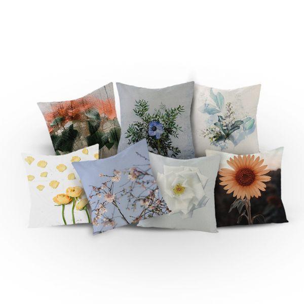 Euro Style Home Decor 3D Flor Capa de Almofada Rose Flower Throw Pillow para sofá estilo Mediterrâneo fronha para o Dia das Mães